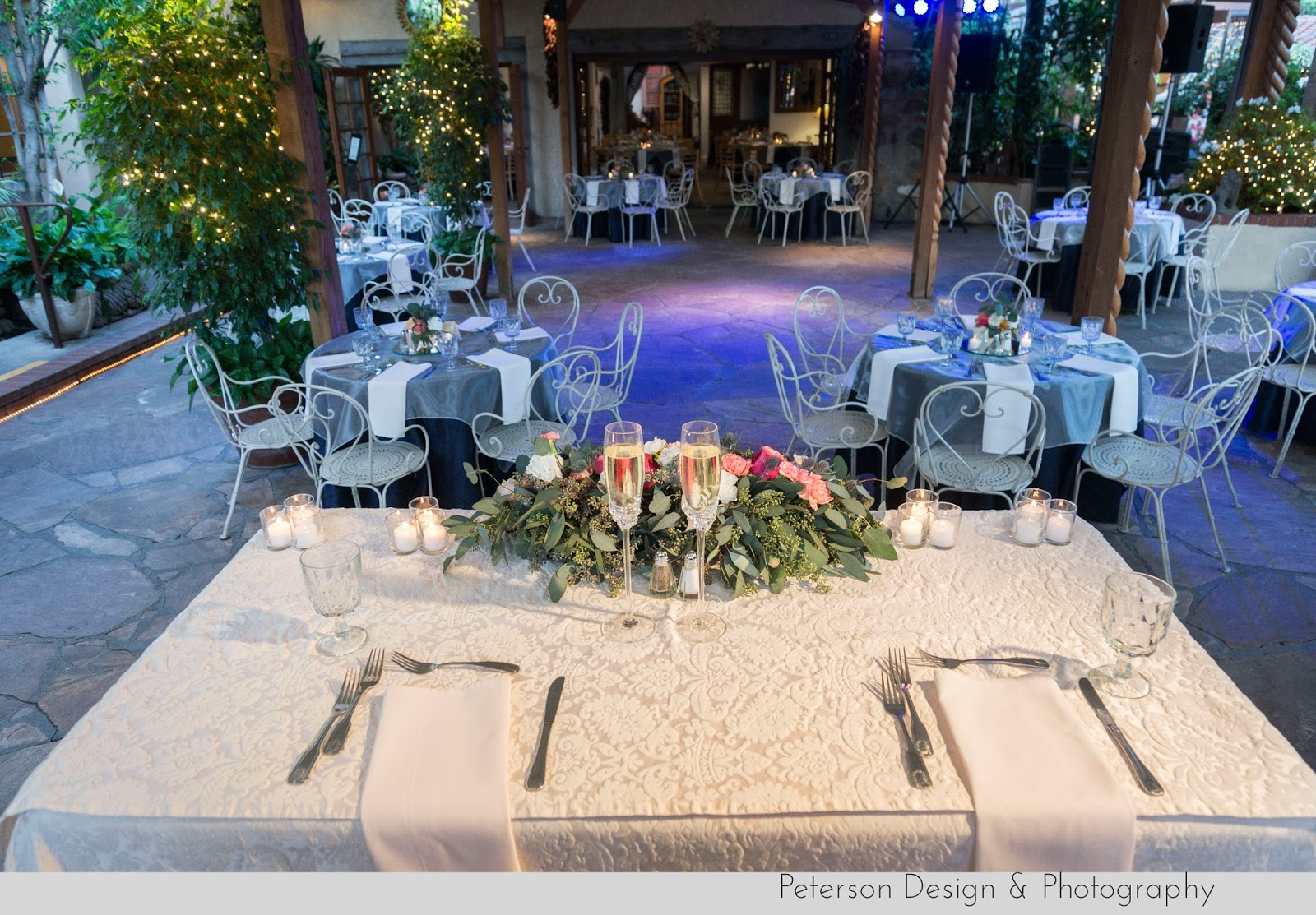 Sweetheart table wedding at The Hacienda Santa Ana