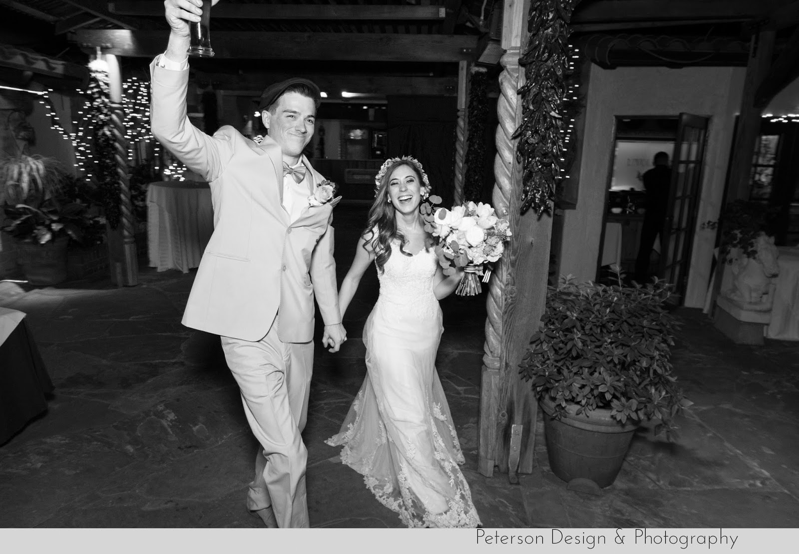 Showcase DJ grand entrance bride and groom at The Hacienda in Santa Ana Ca
