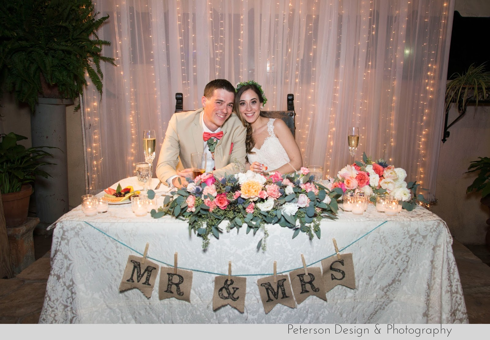 Mr. & Mrs. Sweet heart table at The Hacienda wedding orange county