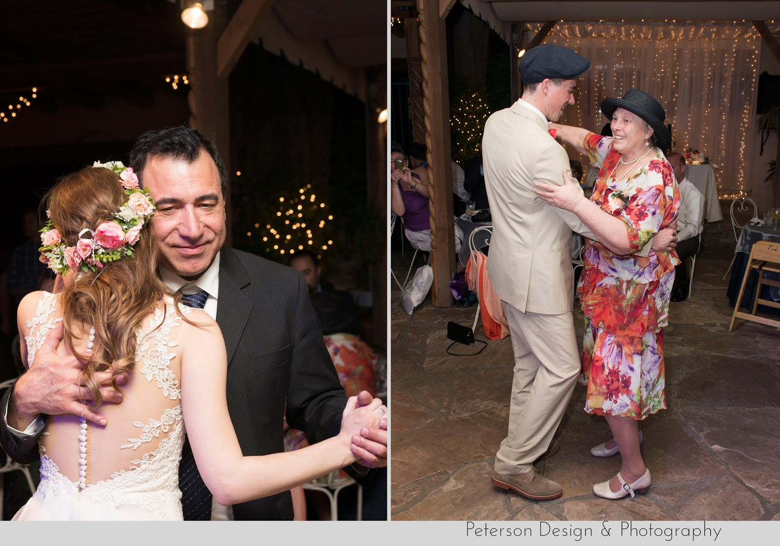 Father Daughter Mother Son Dances at The Hacienda Santa Ana Wedding Venue