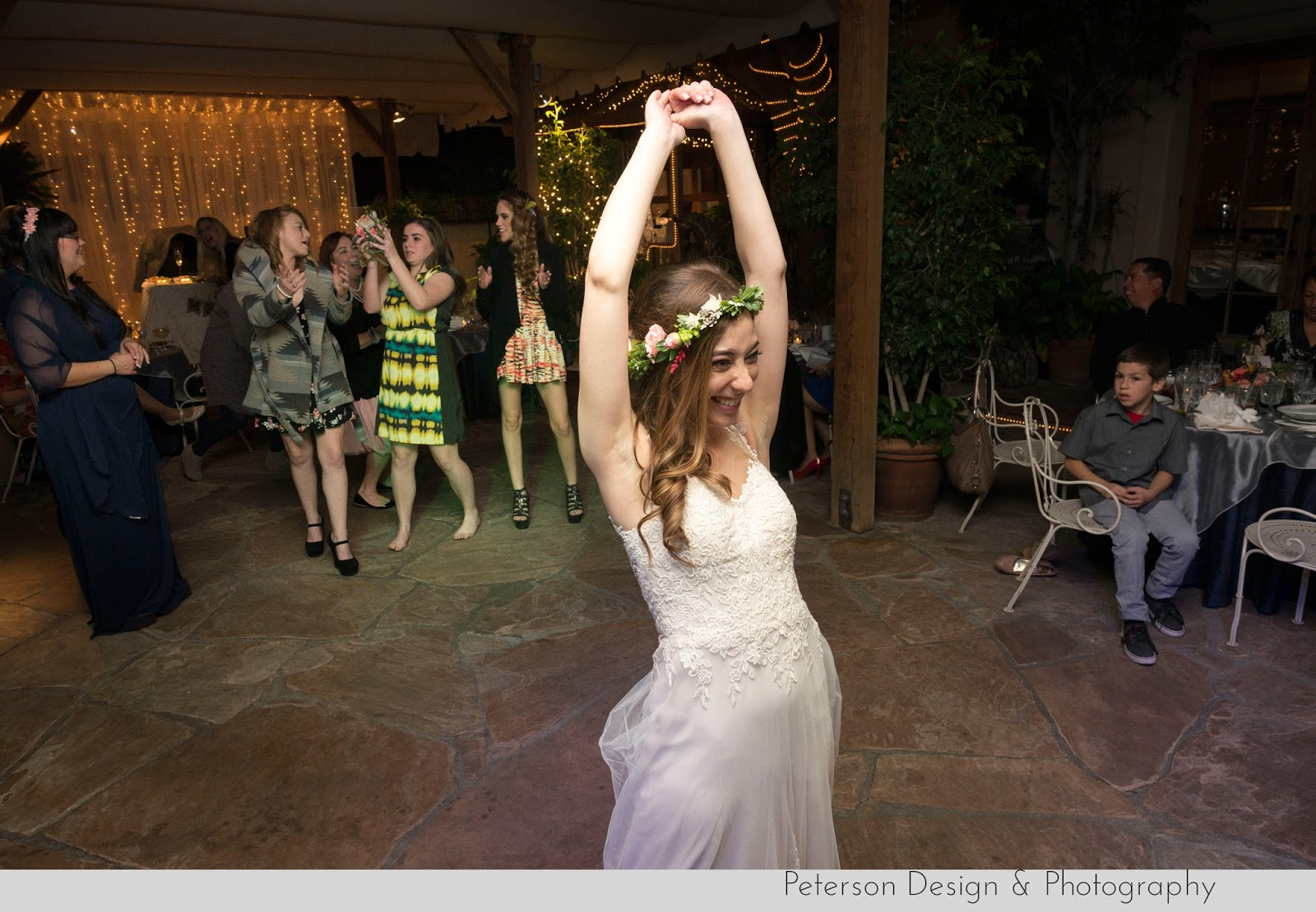 Bride bouquet toss music at the hacienda santa ana ca