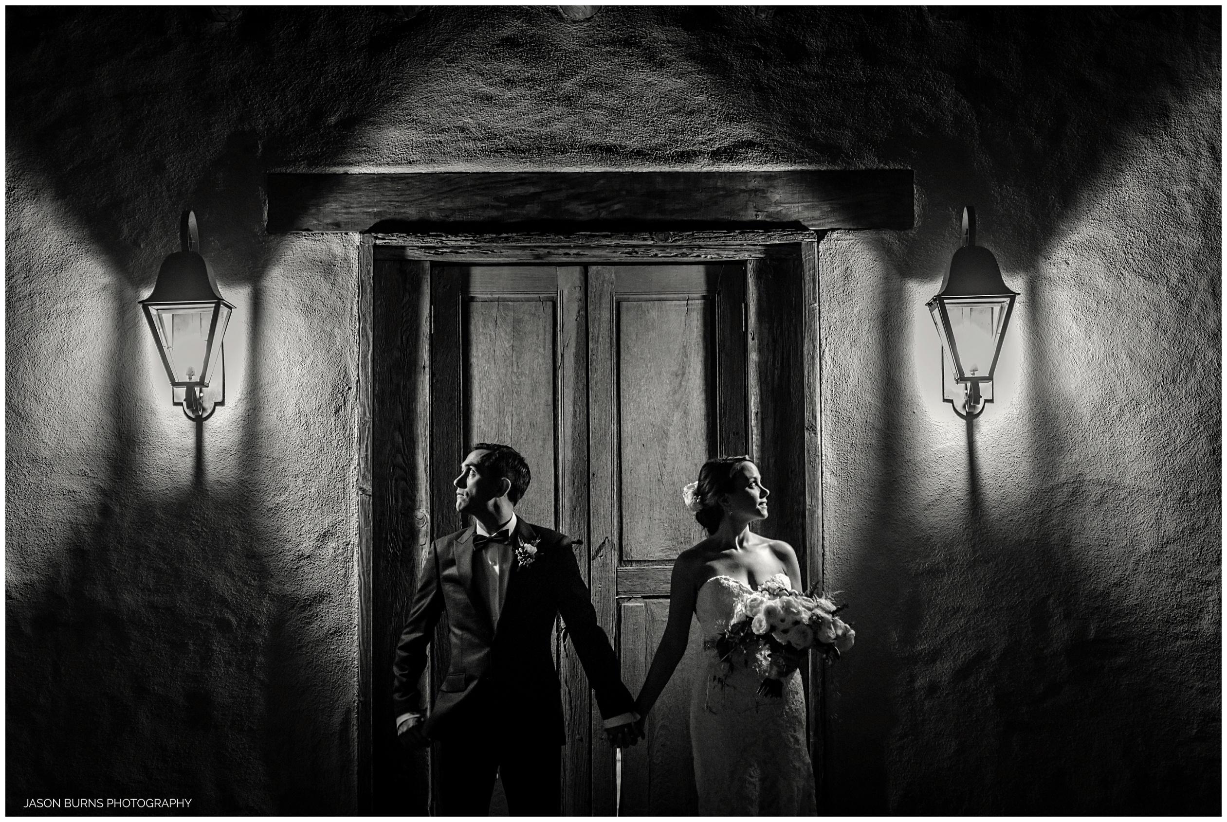 Bride and groom The Hacienda Door